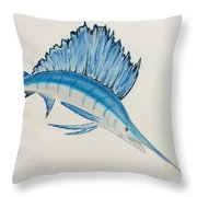 Jumping Swordfish  Throw Pillow