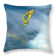 Jumping The Spray Throw Pillow by Erik Aeder - Printscapes