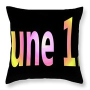 June 12 Throw Pillow