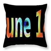 June 14 Throw Pillow