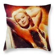 June Haver, Vintage Hollywood Actress Throw Pillow