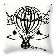 June In A Balloon Throw Pillow