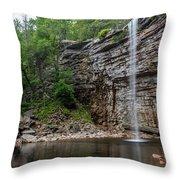June Morning At Awosting Falls II Throw Pillow