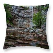 June Morning At Awosting Falls Throw Pillow