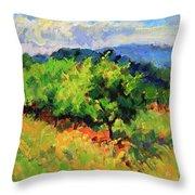 June Orchard Throw Pillow