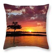 June Sunset At Detroit Point Throw Pillow