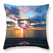 June Sunset Over Wolfe Island Throw Pillow