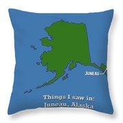 Juneau Alaska Throw Pillow