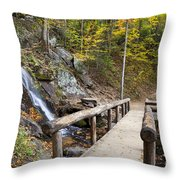 Juney Whank Falls And A Place To Rest Throw Pillow