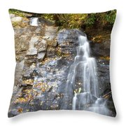 Juney Whank Falls In Nc Throw Pillow