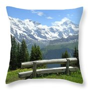 Jungfrau, Austria Throw Pillow