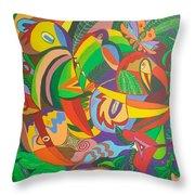 Jungle 1 Throw Pillow