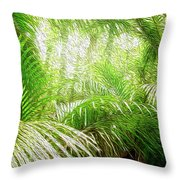 Jungle Abstract 1 Throw Pillow