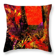 Jungle At The Corner Of Concha And Laconia Throw Pillow by Eikoni Images