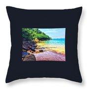 Jungle Beach Throw Pillow