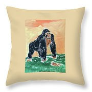 Jungle Beast Throw Pillow