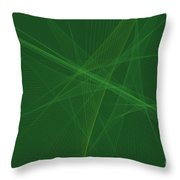 Jungle Computer Graphic Line Pattern Throw Pillow
