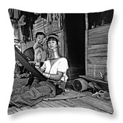 Jungle Crafts Bw Throw Pillow