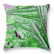 Jungle Flora Throw Pillow