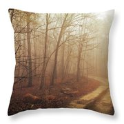 Jungle Journey - The Path Sepia Throw Pillow