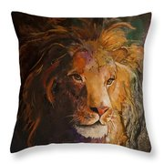 Jungle Lion Throw Pillow
