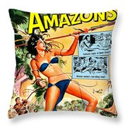 Jungle Movie Poster 1957 Throw Pillow