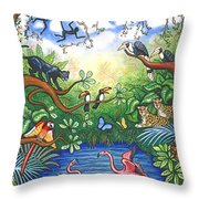 Jungle One Throw Pillow