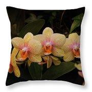 Jungle Orchids Throw Pillow