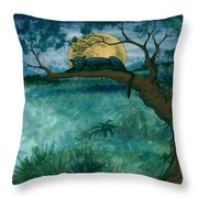 Jungle Panther Throw Pillow