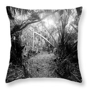 Jungle Trail Throw Pillow