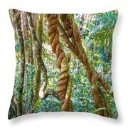 Jungle Vines Throw Pillow