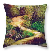 Jungle Walk Throw Pillow