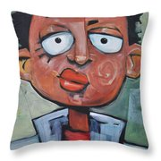 Junior Artist Sans Crayon Hair Throw Pillow