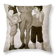 Junior Red Cross Poster Throw Pillow