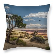 Juniper Tree On A Mesa Throw Pillow