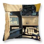 Junk 7 Throw Pillow