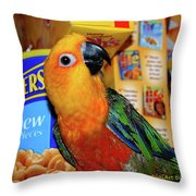 Junk Food Junkie Caught Throw Pillow