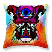 Junkie Cyclops Throw Pillow
