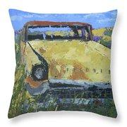 Junkyard Packard Throw Pillow by David King