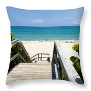 Juno Beach Florida Throw Pillow
