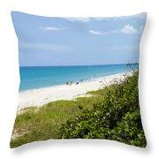 Juno Beach On The East Coast Of Florida Throw Pillow