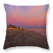 Juno Beach Pastel Sunrise Throw Pillow