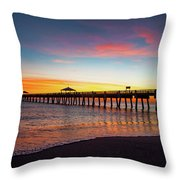 Juno Pier Colorful Sunrise Throw Pillow