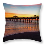 Juno Pier Colorful Sunrise Panoramic Throw Pillow