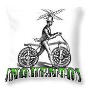 Junquentoys Bike-o-vator Throw Pillow