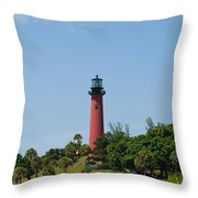 Jupiter Florida Throw Pillow
