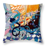 Jupiter Flyby - View From Artist Studio #1 Throw Pillow