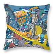 Jupiter Flyby - View From Pho Restaurant #1 Throw Pillow