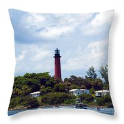 Jupiter Inlet Florida Throw Pillow