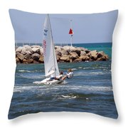 Jupiter Inlet In Florida Throw Pillow